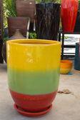 Colorful jar hand craft — Stock Photo