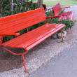 Red bench — Stock Photo #28466625
