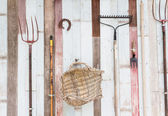 Garden tool hang — Stock Photo