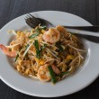 Fried noodle with shrimp. — Stock Photo