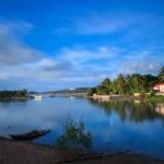 Fisherman village at dusk on Samui island — Stock Photo