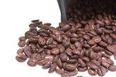 紙の zip 袋のコーヒー豆 — ストック写真