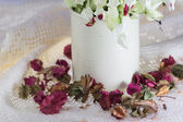 Bleeding-heart flower in vase — Stock Photo