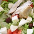 Green salad in white bow — Stock Photo