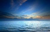 Blue sea and sky sunset — Stock Photo