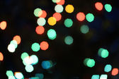 Multicolored defocused bokeh lights background — Foto Stock
