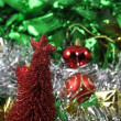 Christmas red pine tree ornaments decoration useful for background — Stock Photo