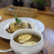 Stock Photo: Onion soup starter meal in restaurant