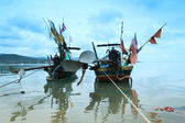 Fishing boats floating at Samui island,Thailand — Stock Photo