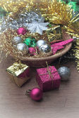 Boîte de cadeau de noël — Photo