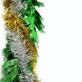 Christmas ornaments frame on white background — Stock Photo