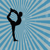 Homem silhueta da ioga — Foto Stock