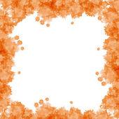 Orange watercolor frame — Foto de Stock