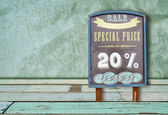Special price on the board — Stock Photo