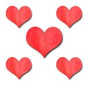 Czerwony papier serca — Zdjęcie stockowe