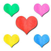 Colorful paper hearts — Stock Photo