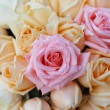 Stock Photo: Beautiful yellow and pink roses background