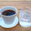 Coffee drink with cold water — Stock Photo #41903289