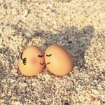 Happy lover eggs — Stock Photo #42844375