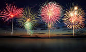 Firework at beach — Stock Photo