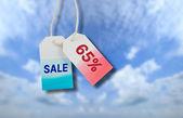 Sale price tag — Stock Photo