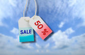 Sale price tag — Stock Photo
