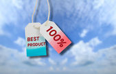 Best product tag — Stock Photo