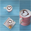 Red coffee cup with heart — Stock Photo #45834861