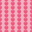 Seamless pink hearts icon background ,vector design — Stock Photo #47112053