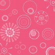 Vector retro pink and white seamless dotted circle background  — Stock Photo #47111867