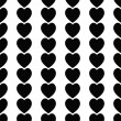 Seamless black hearts icon background ,vector design — Stock Photo #47111973