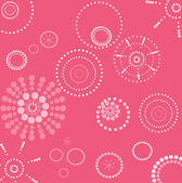 Vector retro pink and white seamless dotted circle background  — Stock Photo
