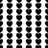 Seamless black hearts icon background ,vector design — ストック写真
