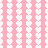 Seamless white hearts icon background ,vector design — Stock Photo
