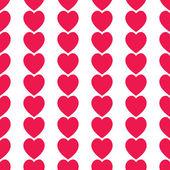 Seamless red hearts icon ,vector design — ストック写真