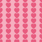 Seamless pink hearts icon background ,vector design — Stock Photo