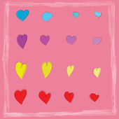 Colorful hearts icon background,vector design — ストック写真