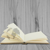 Recycle notebook on wood background,Life is journal — Fotografia Stock