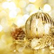 Golden Christmas decorations — Stock Photo #14557549