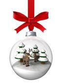 Adornos de navidad con renos — Foto de Stock