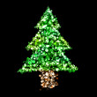 Lights in the shape of a Christmas tree — Stock Photo #14612489