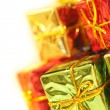 Shiny christmas presents - Stock Photo