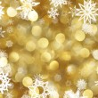 Snowflakes background - Stock Photo
