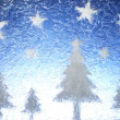 Christmas trees and stars — Stock Photo