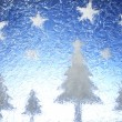 Stock Photo: Christmas trees and stars