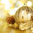 Golden Christmas decorations — Stock Photo #14611605