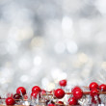 銀のクリスマス背景 — ストック写真