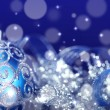 Blue Christmas decorations — Stock Photo #14612893