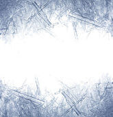 Closeup of ice crystals — Stock Photo