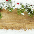 Stock Photo: Christmas snow background